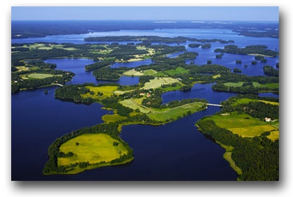 Saarikylat - or Island Villages in Kangasala, Finland.