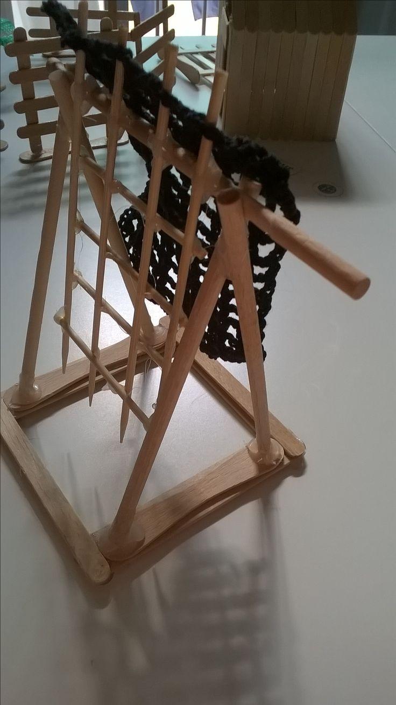 Trappola con aggiunta di rete fatta all'uncinetto