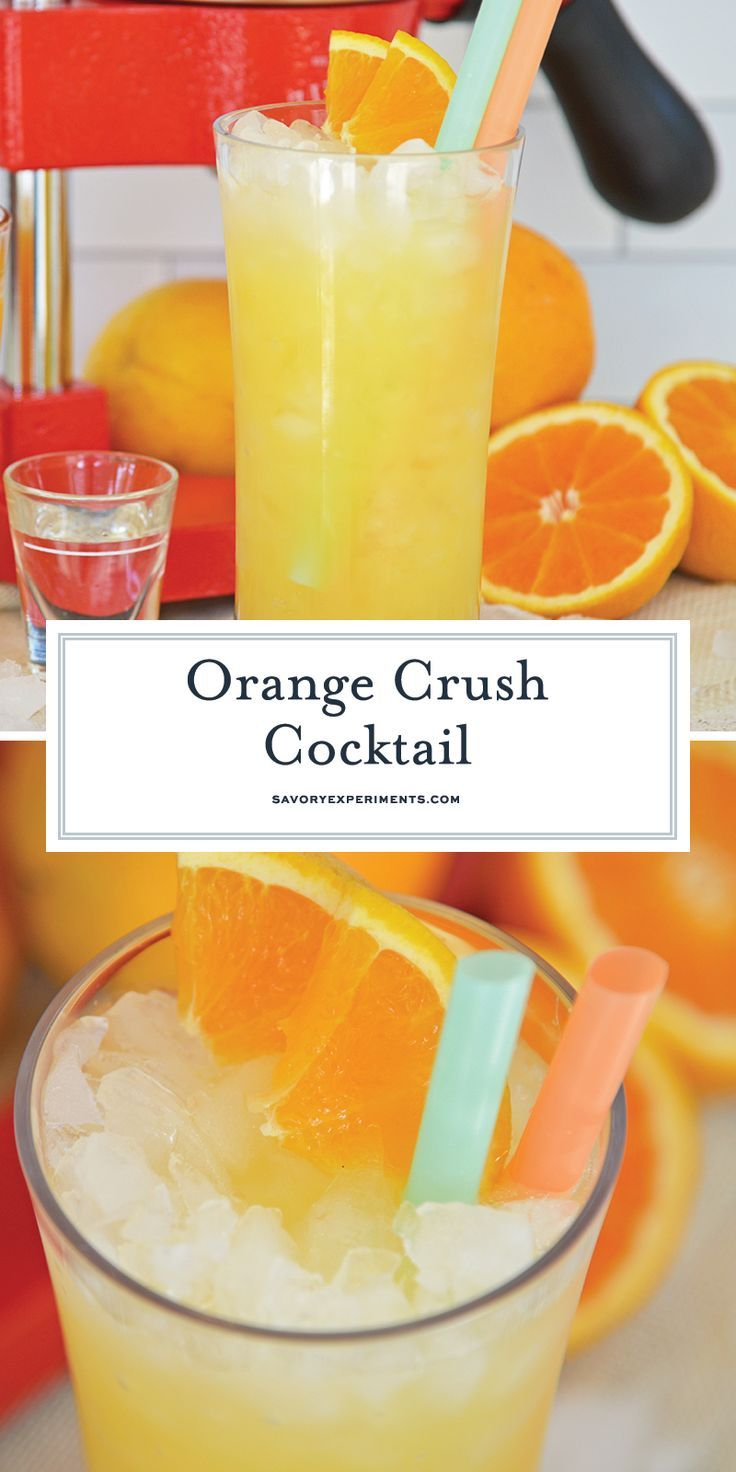 Easy Instructions For The Best Orange Crush Cocktail Recipe Using Fresh Oranges Vodka And Spe Orange Crush Cocktail Orange Crush Recipe Orange Juice Cocktails