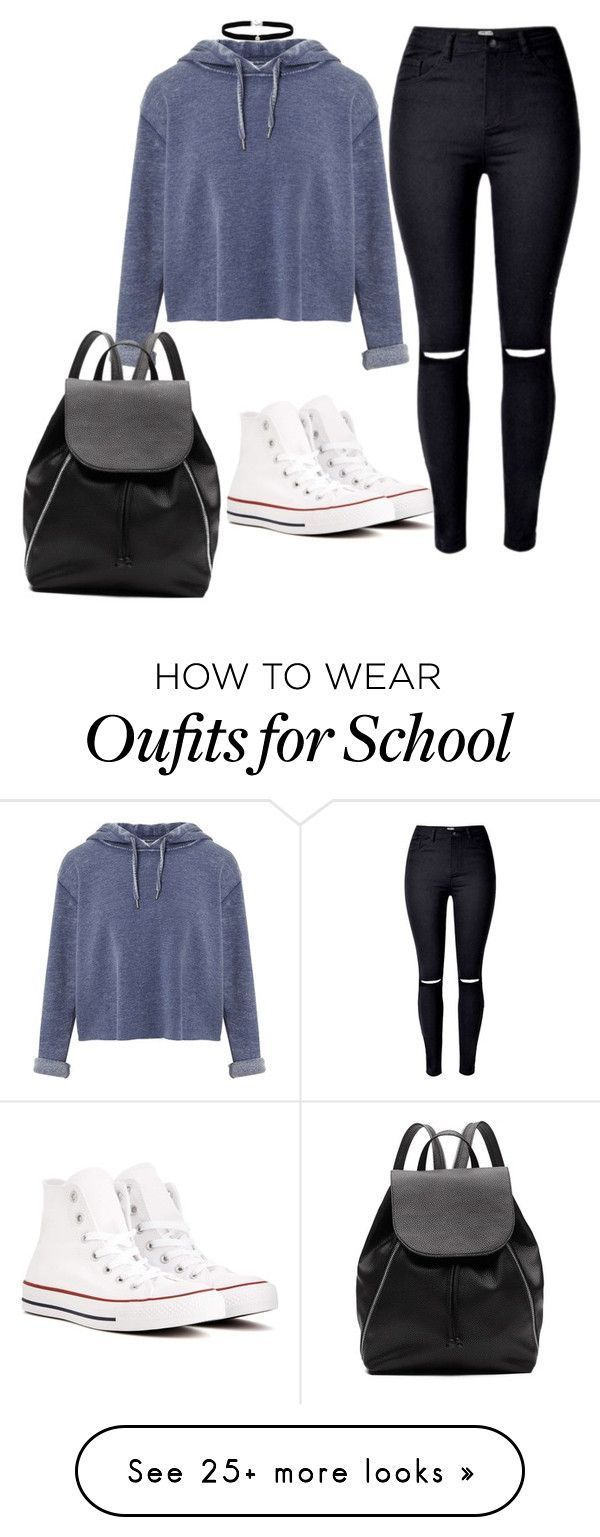 """School #2"" by cbgzajunk on Polyvore featuring Miss Selfridge, Converse, Amanda Rose Collection and Witchery"
