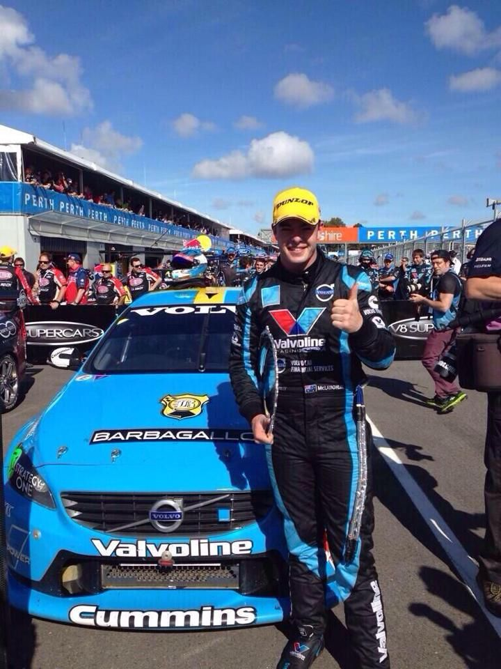 Scott McLaughlin, first win for Volvo V8 Supercar Polestar Racing in Perth, May 2014