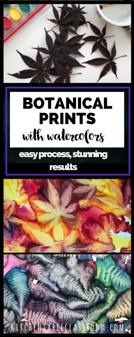 The intricacies and beauty found in nature are hard for artists of any age to replicate. These easy botanical prints let nature do the hard work!