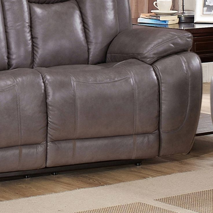 Coja Withia Leather Power Sofa, Loveseat and Chair Recliner Set