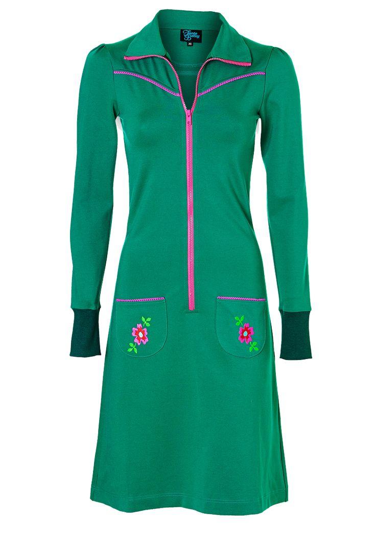 Tante Betsy retro jurk groen retro dress green