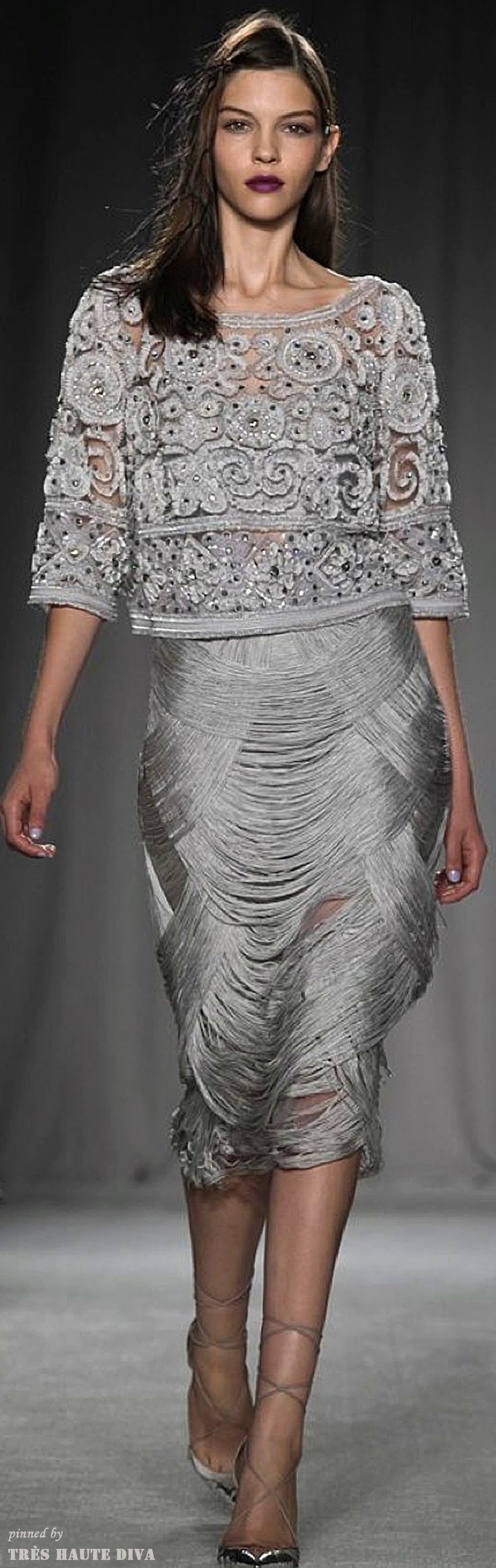 Marchesa 2014 RTW  (This is the top that Mary Queen of Scots is wearing in the episode when she tells Francis of the prophecy and why she can't marry him! )