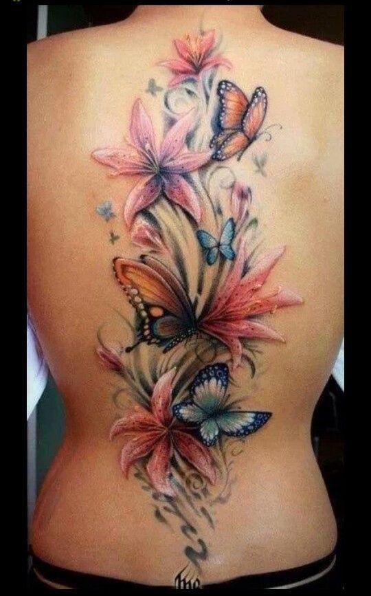 Pretty flowers for women attractive tattoos | Best Tattoo design Ideas