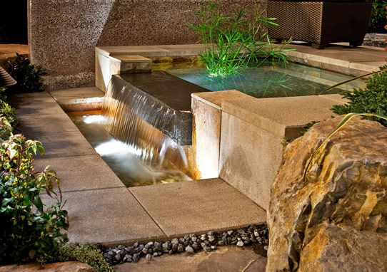 Landscaping - outdoor water feature. What a design!