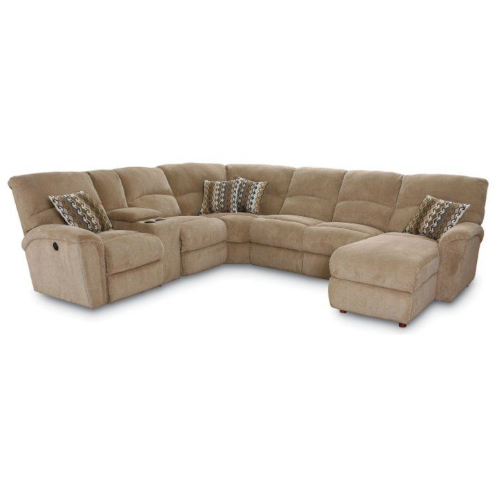 Lane Furniture Robert 4-Piece Reclining Sectional Sofa with Chaise, Beige - Sam's Club