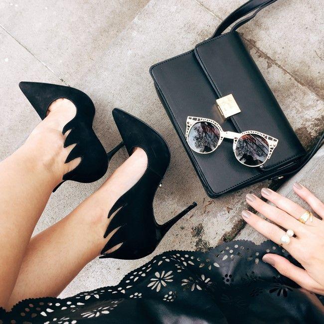 Tudo que amamos: sapato, bolsa e óculos                                                                                                                                                                                 Mais