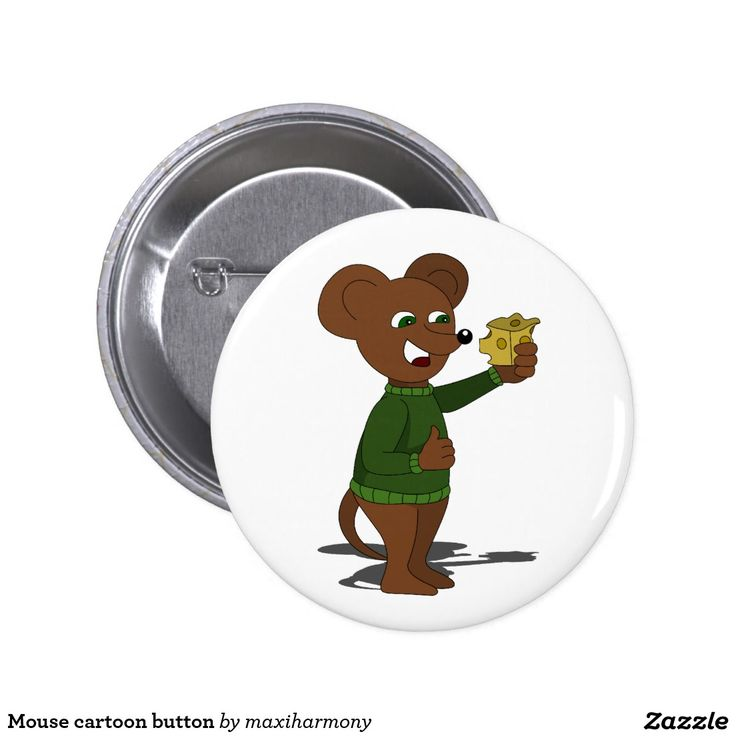 Mouse cartoon button