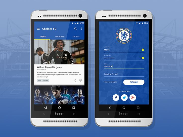 Chelsea FC Android application