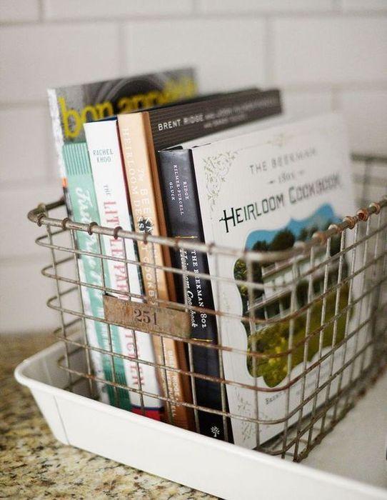 7. Организовать хранение кулинарных книг