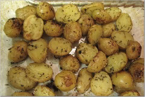 I could eat roasted potatoes every day.  These are my favorite ones to make because they are so small and can be washed and cut very quickly. Some of them don't need to be cut at all.  They g…