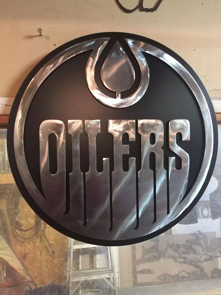 Edmonton Oilers Logo Custom Metal Work Any Design Any
