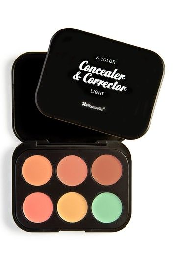 6 Color Concealer & Corrector Palette - Light by BH Cosmetics. BH is a smaller brand but they have some good stuff, and they are leaping bunny certified(which I just found out!) Also check out the OFRA cosmetics concealer roulette!