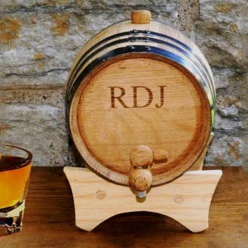 Personalized Mini-Oak Whiskey Barrel
