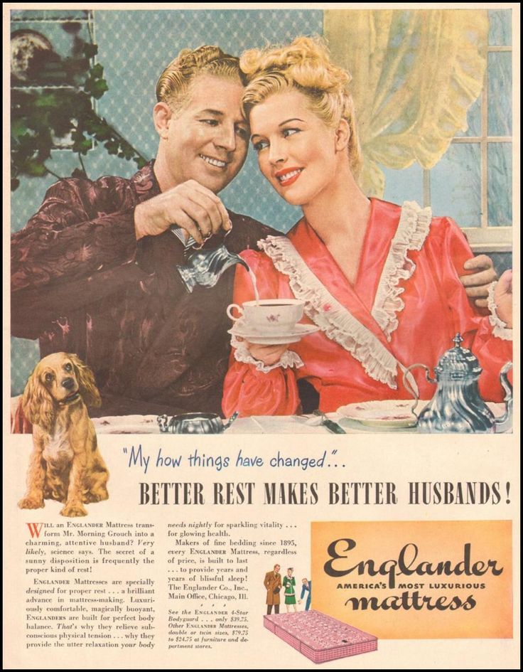 Better Rest Makes Better Husbands!  ENGLANDER MATTRESS  LIFE  03/12/1945
