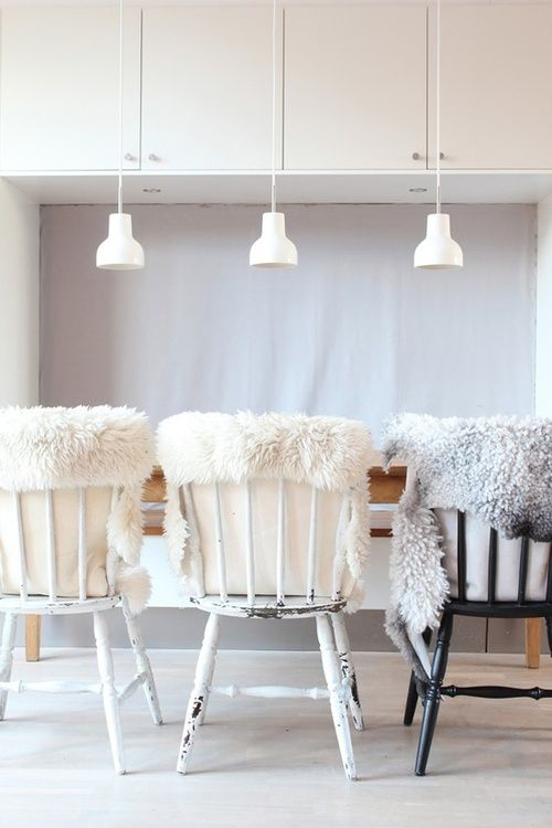 modern farmhouse white dining room