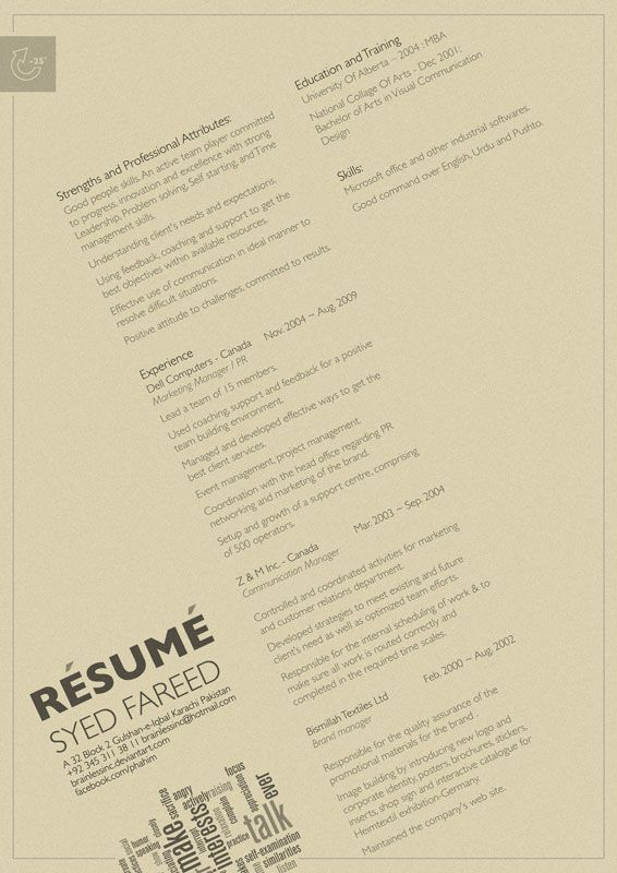 17 Best Images About Resume Design & Layouts On Pinterest
