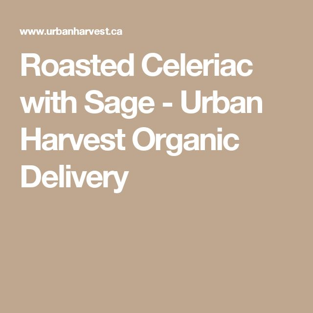 Roasted Celeriac with Sage - Urban Harvest Organic Delivery