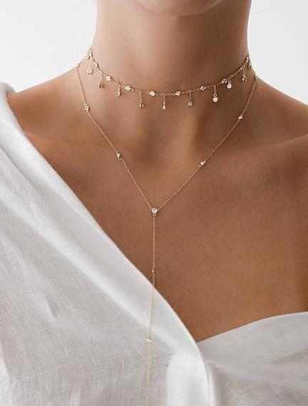 Tassel Star Choker Necklace Gold