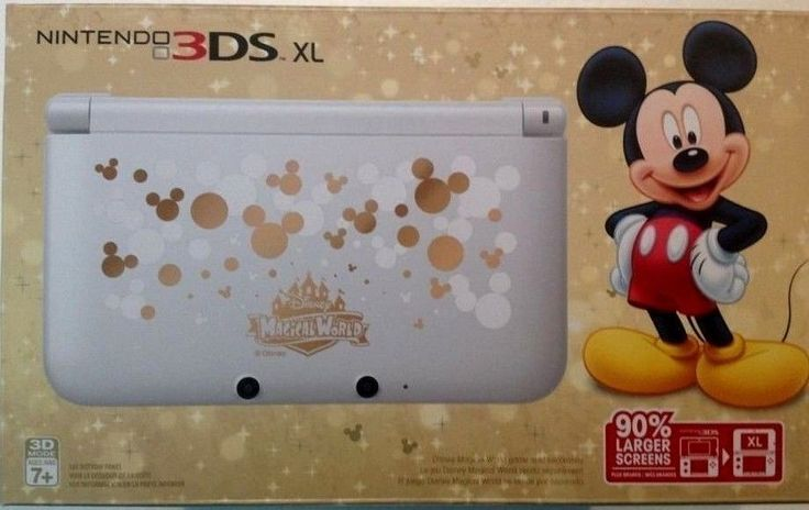brand new nintendo 3ds xl disney mickey mouse limited. Black Bedroom Furniture Sets. Home Design Ideas