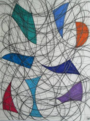 "Saatchi Art Artist Kevin Jones; Drawing, ""Eight Colour Abstract No.6"" #art"