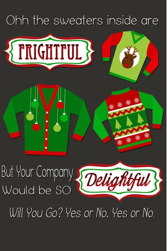 22 best Ugly Christmas Sweater Party Invitations images on Pinterest ...