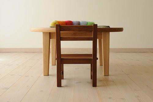 タモ丸ローテーブル 直径80cm / カグオカ
