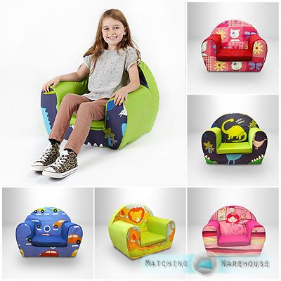 Kids Children's Comfy Soft Foam Chair Toddlers Armchair Seat Nursery Baby Sofa