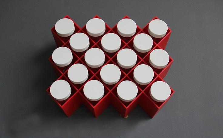 Red Copco Honeycomb Spice Rack