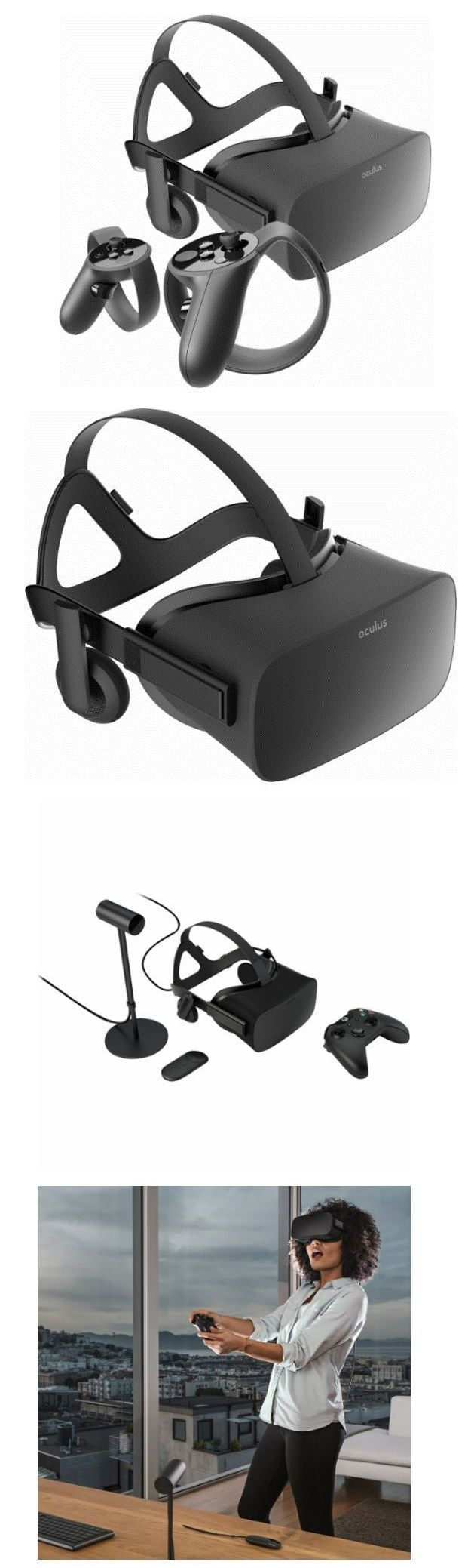 PC and Console VR Headsets: Oculus Rift Virtual-Reality Immersive Headset Touch Wireless Controllers Package -> BUY IT NOW ONLY: $899.99 on eBay!