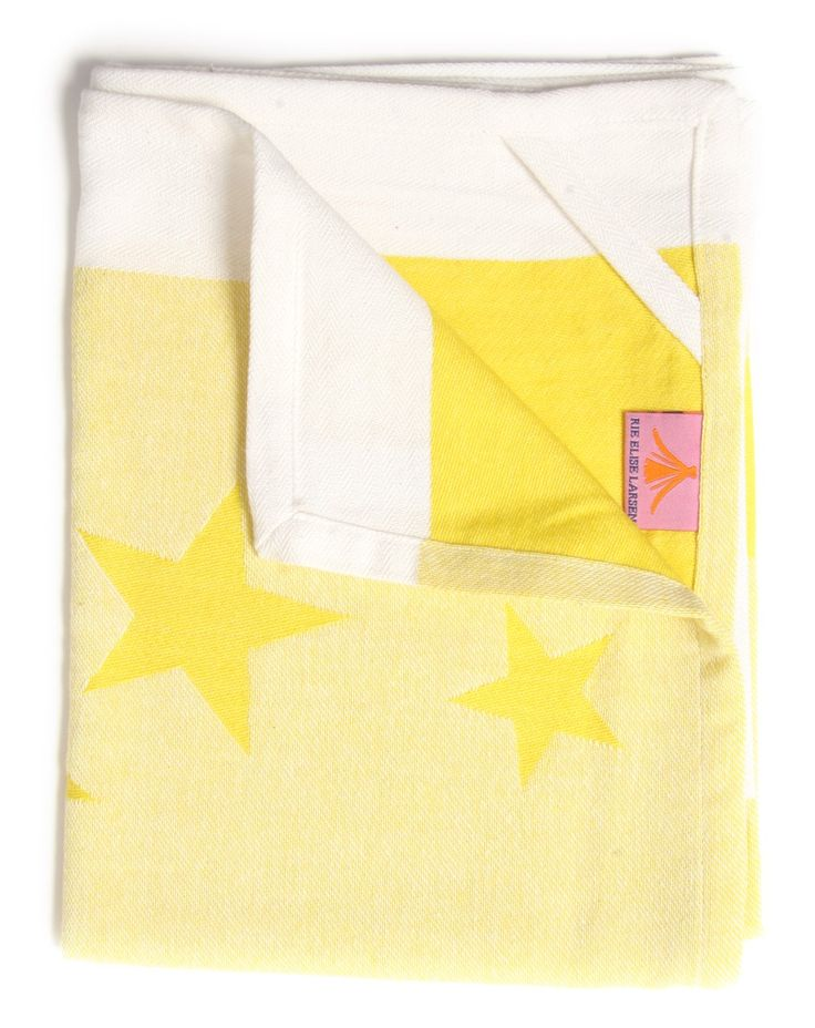 Kitchen Towel - Happy Star - Yellow via Rie Elise Larsen. Click on the image to see more!