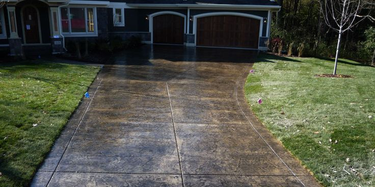 Decorative Drive Way : Best images about concrete stamped on pinterest