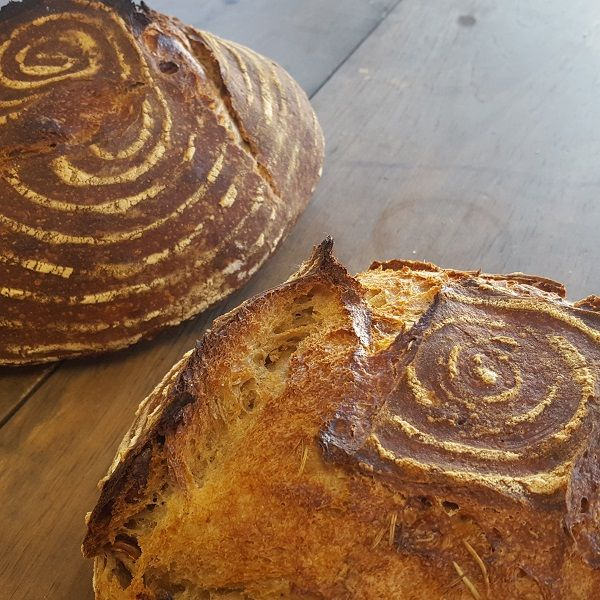 Seasonally flavored sourdough is our new favorite thing. from scratch starter with local organic flour and seasonal ingredients from our farm or others.