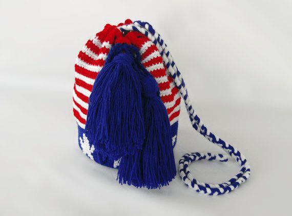 Wayuu bag Colombian bag knitted bag knitted by ErikaKormaDesigns