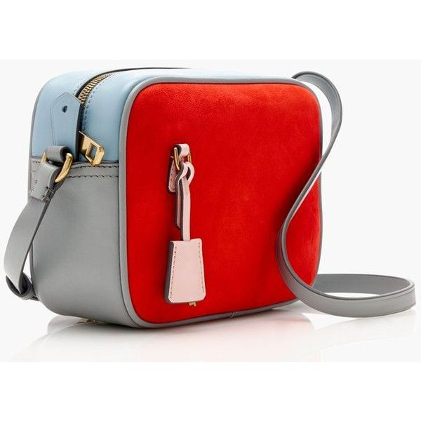 J.Crew Signet Bag ($170) ❤ liked on Polyvore featuring bags, colorblock bags, red leather bag, handle bag, coin pouch and red bag