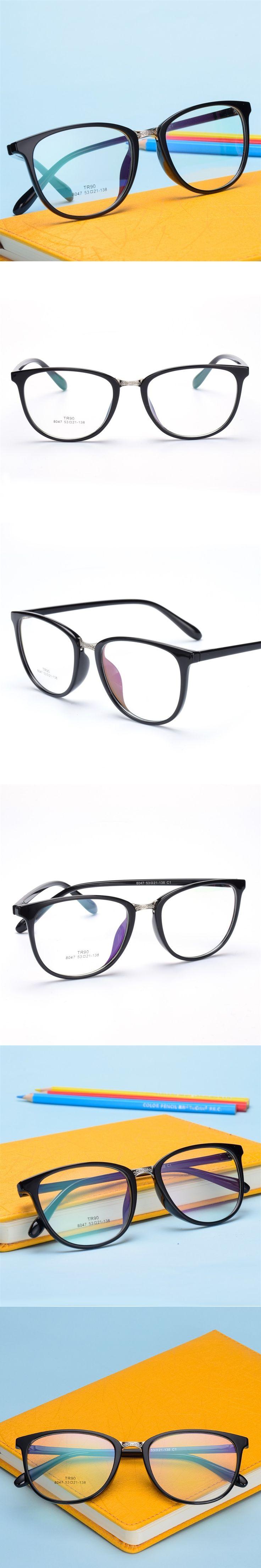 The New TR90 women Glasses frame retro optical clear Full box Eyeglasses frame Men prescription glasses frames 8047