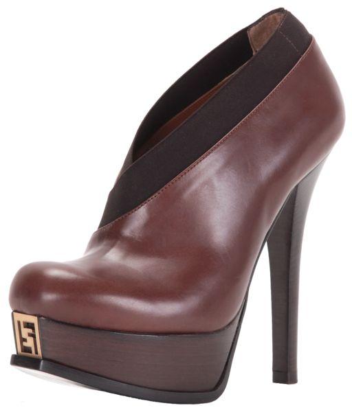 Fendi Fendista Brown Leather BootieFendista Brown, Fendi Fendista, Brown Leather, Fendista Leather, Booty Fendi, High Heels, Fendista High, Fendi 3, Leather Booty