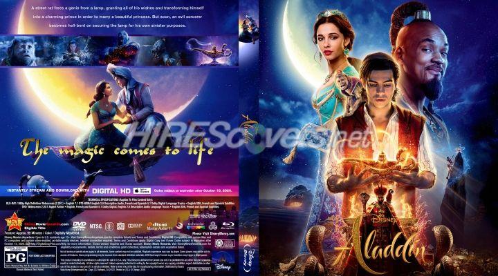 Aladdin 2019 Custom Blu Ray Cover In 2019 Movie Covers