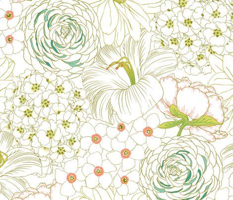 Big Blooms fabric by pattysloniger on Spoonflower - custom fabric