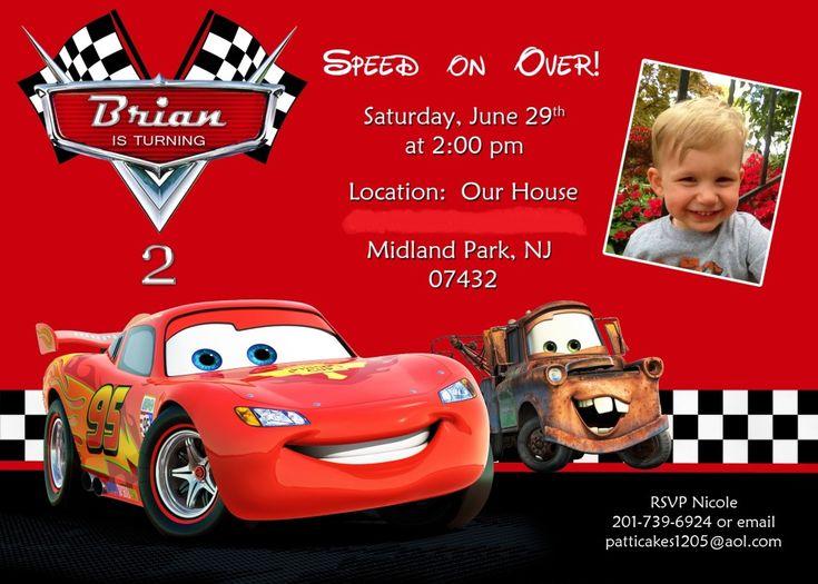 Disney Cars Birthday Invitations Ideas