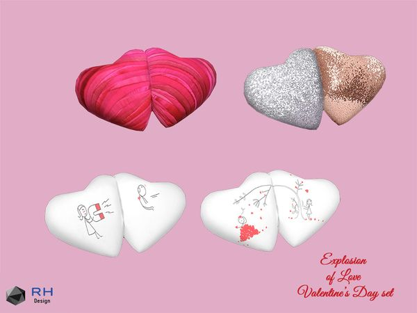 Heart Pillows By Righthearted Sims 4 Heart Pillows Sims 4 Mods