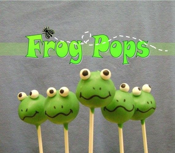 Frog Pops - though I have found myself to NOT be a fan of cake pops, I had to pin based on the frog-factor alone!