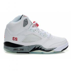 Air Jordan 5 (V) White Cement Black True Red  $84.00 http://www.jordanpatros.com
