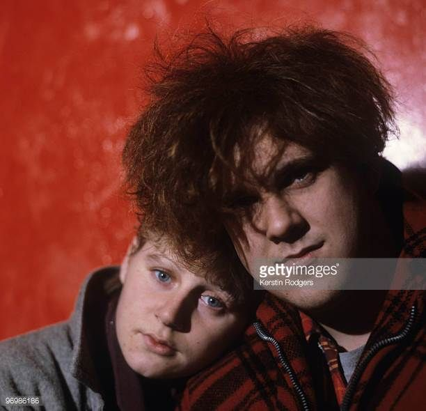 Elizabeth Fraser and Robin Guthrie of Scottish band the Cocteau Twins in 1983