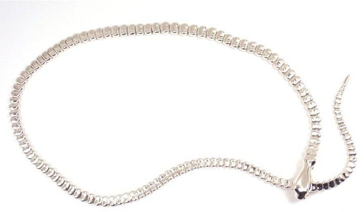 Tiffany & Co. Elsa Peretti 925 Sterling Silver Snake Necklace