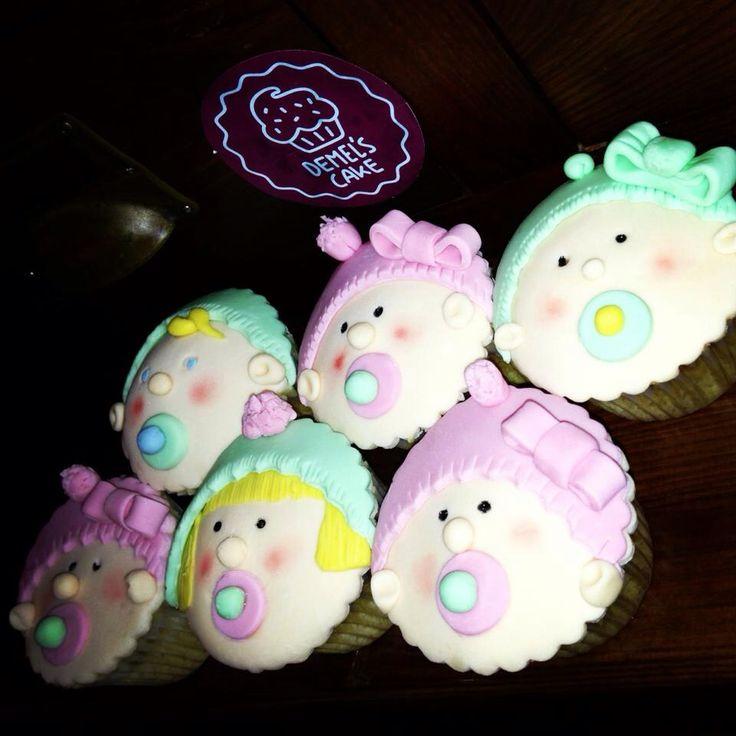 Cupcakes de nutella decorados con fondant