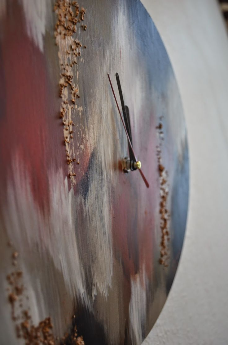 Gold Streaked Wall Clock ~ Stuff and Spice