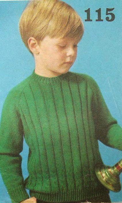 Vintage knitting free patterns, gratis breipatronen onder andere jaren 70 patronen: Jongenstrui om zelf te breien, eenvoudig breipatro...